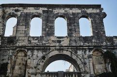 Fragment van oude gebouwen van het Diocletian-paleis Royalty-vrije Stock Afbeelding