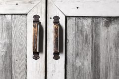 Fragment van oude houten deur stock foto's