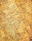 Fragment van oude kaart Stock Foto