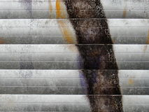 Fragment van oude muurtextuur met de graffiti van de schilverf Stock Afbeelding