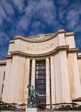 Fragment van Palais DE Chaillot. Parijs. stock foto