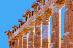 Fragment van Parthenon Stock Foto's