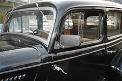 Fragment van retro oude auto Volga GAZ - A - de eerste personenautoinstallatie - de USSR 1930 Royalty-vrije Stock Afbeeldingen
