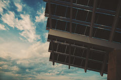Fragment van reusachtig photovoltaic paneel stock foto's