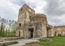Fragment van ruïnes van oude staalfabrieken Royalty-vrije Stock Foto's