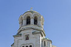 Fragment van schoonheid St Alexander Nevsky Cathedral in Sofia Stock Afbeeldingen