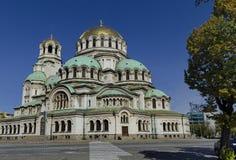 Fragment van schoonheid St Alexander Nevsky Cathedral in Sofia Stock Afbeelding