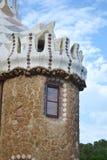 Fragment van sprookjehuis in Park Guell Stock Foto