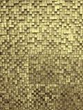 Fragment van vierkante textuur of de kruising van de oppervlakte geel rood roze oranje grijs kastanjebruin gouden donker gekleurd Royalty-vrije Stock Foto