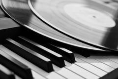 Fragment van vinylverslagen Stock Foto's