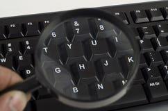 Fragment van zwart computertoetsenbord Royalty-vrije Stock Foto