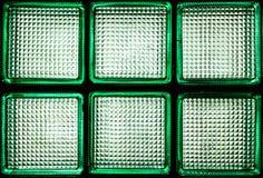 Fragment vert de mur de bloc en verre Images stock