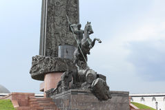 A fragment of the Victory monument on Square Winners in Victory Park on Poklonnaya Hill. Stock Image