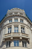 Fragment of Vienna architecture.Old building. Royalty Free Stock Photo