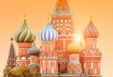 Fragment view of Saint Basil`s Cathedral Royalty Free Stock Image