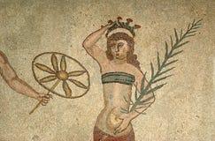Fragment Villa Romana del Casale romaine de mosaïque Images libres de droits
