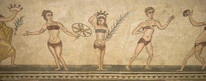 Fragment Villa Romana del Casale romaine de mosaïque Photos libres de droits