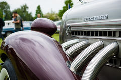 Fragment of vintage car Auburn 852 Speedster. Royalty Free Stock Photography