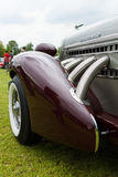 Fragment of vintage car Auburn 852 Speedster. Royalty Free Stock Image