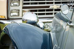 Fragment of a vintage car Citroen Traction Avant Stock Images
