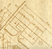 A fragment of vintage engineering drawing Stock Photo