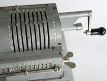 Fragment of vintage mechanical arithmometer Royalty Free Stock Image