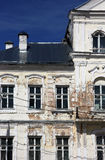 Fragment of vintage shabby old public building in classical styl Stock Photo