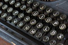 The fragment of vintage typewriter. Stock Photography