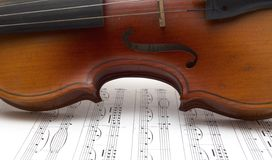 Fragment of violin Royalty Free Stock Photos