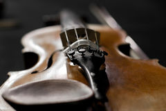 Fragment of a violin Royalty Free Stock Photography