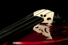 Fragment of violin with weird reflection Royalty Free Stock Image