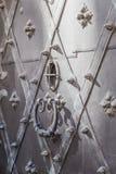 Fragment von alte Stahltüren Stockbilder