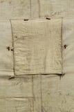 Fragment von alten Militärzelten Stockbilder
