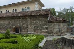 Fragment von alter Grabung Kirche Sant Pantaleimon in der Erde, Vidin-Stadt lizenzfreie stockbilder