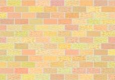 Fragment von Backsteinmauern in den verschiedenen Schatten vektor abbildung