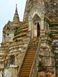 Fragment von chedi im buddhistischen Tempel Wat Phra Sri Sanphet in Ayutthaya stockfotografie
