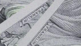 Fragment von Dollar stock video footage
