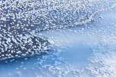 Fragment von gefrorenem Fluss Stockbild
