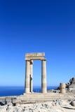 Fragment von Hellenistic stoa Stockfotos