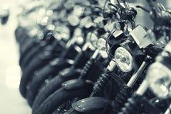 Fragment von Motorräder stockfoto
