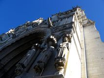 Fragment von Notre Dame in Chartres Stockbild