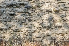 Fragment of a wall ancient fortress Stock Photos