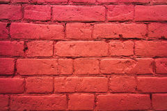 Fragment of the wall of brick Stock Photo