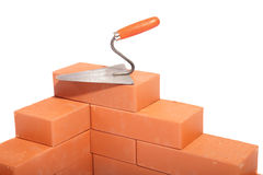 Fragment of the wall from bricks Royalty Free Stock Photo