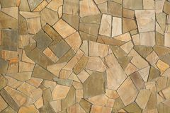 Fragment of a wall from a chipped stone Royalty Free Stock Images