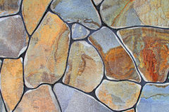 Fragment of a wall from a chipped stone Stock Photography