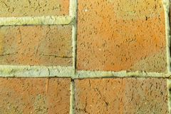 Fragment of a wall from  chipped stone stock image
