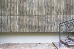 Fragment of a wall by entrance to the modern residental house for background Royalty Free Stock Photo