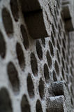 Fragment of the wall with holes Stock Photo