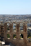 Fragment of wall of Odeon of Herodes Atticus Stock Images